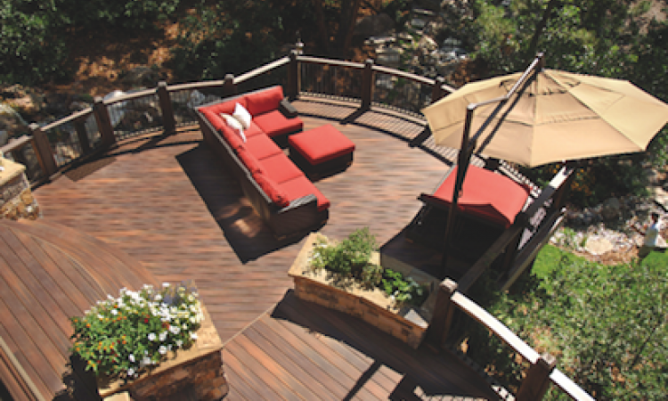 Organized outdoor space: Using decks to create a focus for outdoor living projec