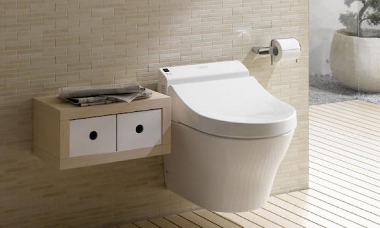 an example of a wallhung toilet in a bathroom providing a clean - Wall Hung Toilet