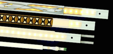 The LIT modular lighting strip system from Keeler provides illuminated decorative trim.