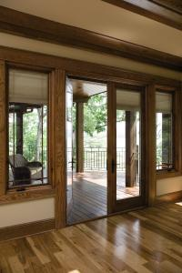 Available In Pine And In 12 Prefinished Interior Wood Finishes, The Pella  Designer Series Wood Patio Door ...