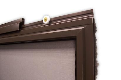 the tophung extruded patio screen door features an adjustable roller bar that attaches to the top of the screen frame and bottom rollers