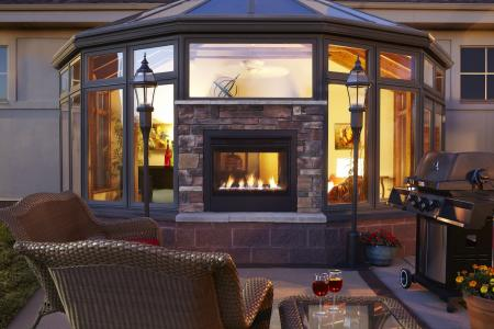 High Quality The Twilight Modern Is A New Indoor/outdoor Gas Fireplace From Hearth U0026 Home  Technologies. The Two Sided Fireplace Combines Contemporary Design With  Outdoor ...