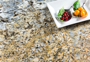 An example of one of the exotic granite pieces in the GranIth collection from Spanish company TheSize.