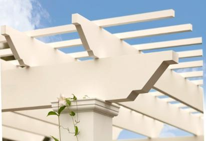 Trex is now offering Trex Pergola kits manufactured of durable and  low-maintenance cellular PVC TrexTrim in cooperation with Backyard America. - Trex Pergola Kits Pro Remodeler