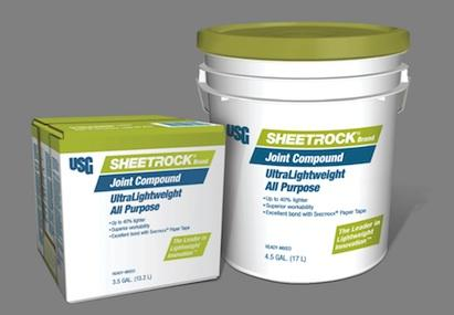 Usg sheetrock brand ultralightweight all purpose joint for National gypsum joint compound