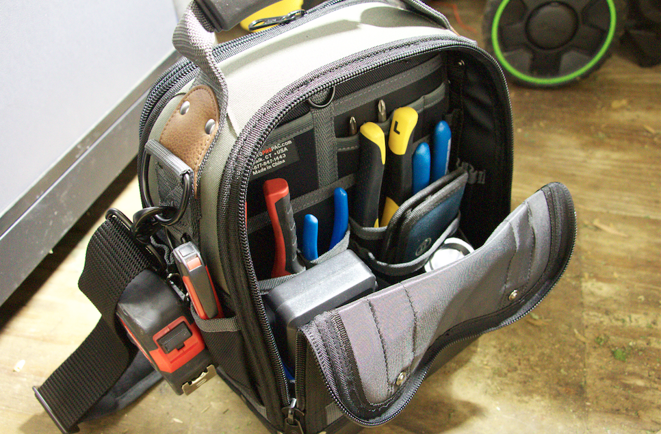 The Veto Pro Pac Tech-MCT interior offers plenty of storage space for hand tools and plenty else.