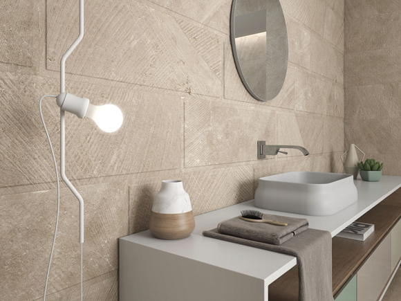 A six-shade porcelain palette of neutral, functional colors that presents a recreation of natural stone, the Tundra collection from Argenta Cerámica is capable of reinterpreting natural materials with precision and without losing their essence.